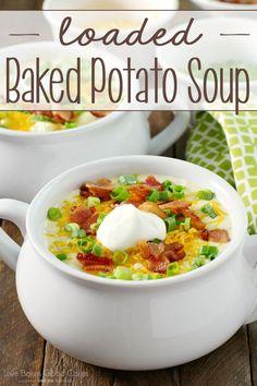 AMAZING!! Loaded Baked Potato Soup- AD