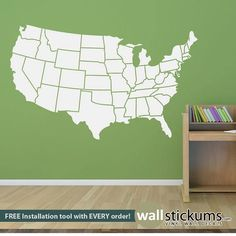 12x12 United States Travel Map Bulletin Board with Multi-Colored ...