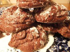 Triple Chocolate Cloud Cookies Meringue with by LittleNevasBakery
