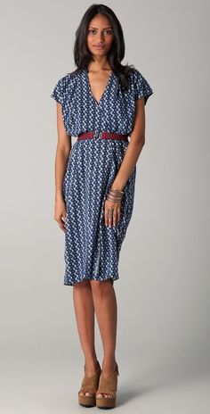 Burning Torch Ikat Dress