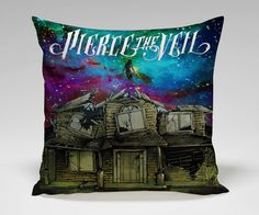 pierce the veil cool cover galaxy Square Pillow by tasoplastart. Hmm maybe a different band but its still cool