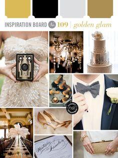 Golden Glam Wedding Inspiration from Elegance and Enchantment // www.eleganceandenchantment.com