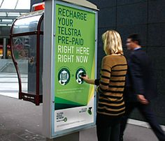 Telstra's NFC phone booth ad campaign in action in Sydney & Melbourne