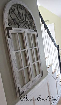 Gorgeous architectural distressed window