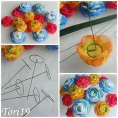 """Мини-урок """"Цветочная композиция"""" (дополнение к МК """"Цветы из ткани"""") - Ярмарка Мастеров - ручная работа, handmade"""