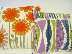 orange & green floral. Often see this combo with pink tone