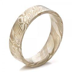 Men's Mokume Flat Band. Orrrr..... a Cool thumb ring;)