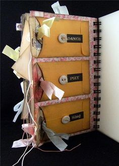 Using coin envelopes in a mini album, loaded blog too!