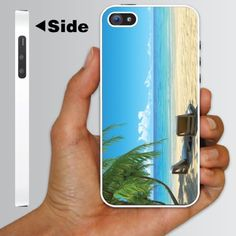 """Beach Theme iPhone 5 Case Designs """"Chairs on Beach W/Palmtrees"""" - White Protective Hard Case by VictoryStore, http://www.amazon.com/dp/B009IRPST4/ref=cm_sw_r_pi_dp_NBXcsb0W4VX5Z"""