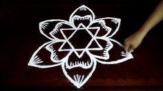 Creative Freehand Rangoli designs | chukkala muggulu with dots| rangoli ...