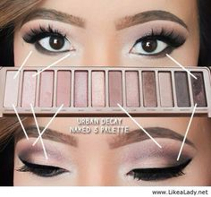 Urban decay naked 3 look I would use less eyeliner
