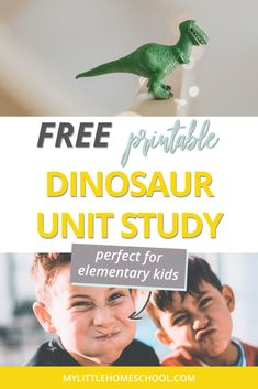 Need a low-prep activity for your elementary kids? Download this dinosaur unit study for a day of dino-inspired fun and learning. #homeschool #homeschooling #unitstudy #mylittlehomeschool Dinosaur Activities, Preschool Activities, Elementary Science, Elementary Schools, Tutoring Business, Study Photos, Unit Studies, Dinosaurs, Montessori