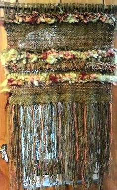 Hand woven wall tapestry by Arte en Lana Chile. Weaving