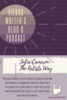 #Morgenseiten & Artist's Dates sind die zentralen Aufgaben des bewährten 12-Wochen-Programms, bei dem man sich selbst & die eigene #Kreativität sehr gut kennenlernt. #Schreibblockade.n / #writersblock.s werden damit sicher abgebaut & ein #nachhaltig.er Weg zu einem kreativeren Leben geebnet. Meine #Erfahrung mit der #Idee, dem #Buch & den vielen kleinen Änderungen in meinem Leben. #Autor #Autorin #Künstler #kreativ #schreiben #malen #tanzen #zeichnen #morningpages #Viennawriter #Blog Julia Cameron, The Artist's Way, Dates, Self Publishing, Lorem Ipsum, Indie, Writer, Blog, Movie Posters
