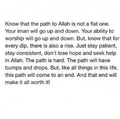 Reminder of faith and struggles