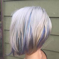 platinum+bob+with+pastel+highlights                                                                                                                                                                                 More
