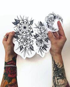 🌼 🌸 🌼 - - sigam no instagra tattoo tattoo designs, flower tattoos, tatto Cute Tattoos, Beautiful Tattoos, Leg Tattoos, Flower Tattoos, Arm Tattoo, Body Art Tattoos, Tattoo Drawings, Small Tattoos, Sleeve Tattoos