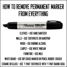 How to get that permenant marker out