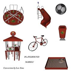 Sims 4 CC's - The Best: Playground by Leo 4 Sims