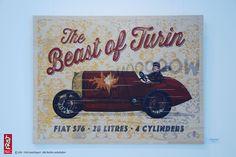 02 The Beast of Turin FineArtPrint Holz 80 x 60 cm
