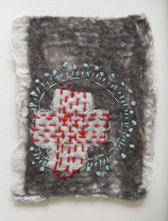 Linda Lammerts, embroidery artist. Focuses on miniatures.