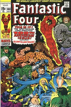 Fantastic Four #100. Art by Jack Kirby.   #FantasticFour #JackKirby