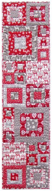 Quilt Inspiration: Free pattern day: Christmas Table Runners! Scandi Christmas, Christmas Sewing, Christmas Fabric, Christmas Crafts, Christmas 2015, Christmas Trees, Christmas Patchwork, Christmas Quilting, Xmas