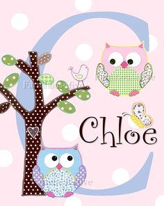 Love this for over her bed to go with the Hayley Owl quilt