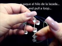 frivolite-tatting lesson 46 - esconder cabos al final de un anillo hide ends at the end of a ring - YouTube