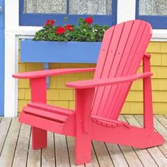 Repaint Outdoor Recliners    Paint Adirondack chairs a cheery color.     Impervex Latex High Gloss Metal & Wood paint, about $23 per quart; benjaminmoore.com for stores