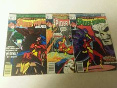 1978 The Spider Women Comic Books #3, 4, 6
