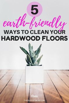 5 Earth-Friendly Ways to Clean Your Hardwood Floors- Save money by using these five solutions for cleaning your hardwood floors. Natural cleaners are not only efficient, but they are safer for your family. House Cleaning Tips, Green Cleaning, Diy Cleaning Products, Cleaning Hacks, Cheap Hardwood Floors, Savings Planner, Save Money On Groceries, Natural Cleaners, Frugal Living Tips