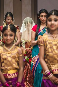 17a indian wedding bridal party and bride