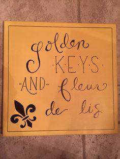 Golden Keys and Fleur De Lis  Kappa Kappa Gamma sorority craft                                                                                                                                                     More
