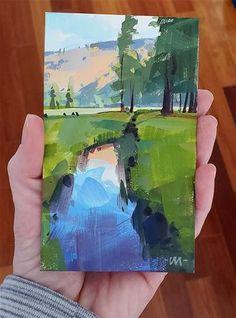 Carol Marine Gallery of Original Fine Art Montana Landscape, Gouache Painting, Fine Art Gallery, Landscape Paintings, Scene, Photo And Video, Illustration, Instagram, Art Gallery