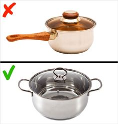 Most people these days are aware of the importance of eating healthy. However, not everyone knows that the cookware used to make the food is almost as important Kitchen Hacks, Cookware, Healthy Eating, Food, Batteries, Kitchen Gadgets, Safety, Diets, Food Items