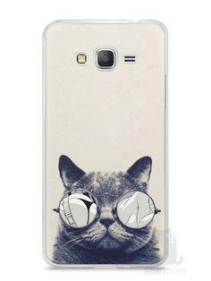 Capa Samsung Gran Prime Gato com Óculos - SmartCases - Acessórios para celulares e tablets :)