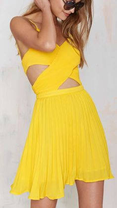 Glamorous Favorite Ex Crossover Dress - Yellow