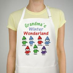 Winter Wonderland Personalized Apron #Christmas #PersonalizedGifts #PersonalizedApron #ChristmasGift #GiftsForYouNow #Gifts #Apron