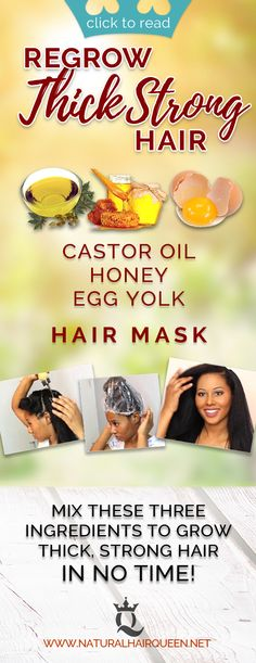 Start Regrowing Thick, Strong Hair Overnight With Just 3 Ingredients - Do it Smart Natural Hair Care Tips, Long Natural Hair, Natural Hair Growth, Natural Hair Journey, Natural Hair Styles, Thick Hair, Hair Shrinkage, Natural Hair Moisturizer, Black Hair Care