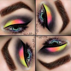 Colorful Eyeshadow Look #makeup #beauty #Eyemakeupideas - bellashoot.com