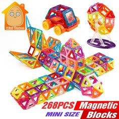 Cheap toy magnets, Buy Quality magnetic building blocks toys directly from China brick set Suppliers: Minitudou Mini Magnetic Building Blocks Toys Construction Bricks Set DIY Educational Toy Magnet For Kids Magnetic Building Blocks, Building Toys, Diy Educational Toys, Construction, Toys Shop, A Boutique, Mini, Kids Toys, Cool Things To Buy