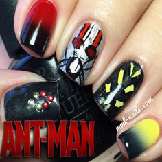 With a little time, you can master this Ant-Man nail art (Paul Rudd unfortunately not included).