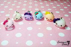 My Little Pony, MLP Jewelry, Kawaii Polymer Clay Charms, Mochi Necklace Charms, Cute Polymer Clay Necklace
