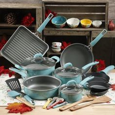 Have these The Pioneer Woman 30pc Cookware Set - Turquoise, Blue