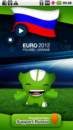 """'EURO 2012 RUSSIA Anthem' is the official app to play RUSSIA anthem during UEFA EURO 2012 tournament.<br/><br/>★★★★★ """"EURO 2012 RUSSIA Anthem"""" ★★★★★<br/><br/>'EURO 2012 RUSSIA Anthem' allow the Russia national football team supporters to play and sing the Russia anthem during UEFA EURO 2012 tournament.<br/><br/>The 2012 UEFA European Football Championship, EURO 2012, will be the 14th European Championship for national football teams sanctioned by UEFA. <br/><br/>The UEFA EURO 2012 tournament…"""