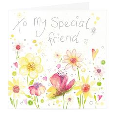 Special Friend Floral Card at Whistlefish Galleries - handpicked contemporary & traditional art that is high quality & affordable. Available online & in store