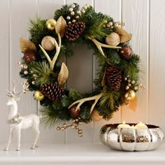Metallic Antler Wreath....with a wavy alternative to antlers