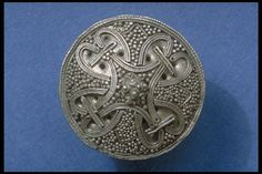 Viking age silver brooch with filigree ornamentation, Uppland, Sweden.