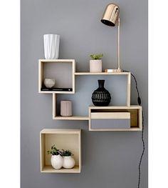 Geen ruimte? Speel met planken aan de muur